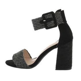 Sandales noires à talon