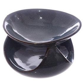 Brûleur à huile abstrait bleu gris
