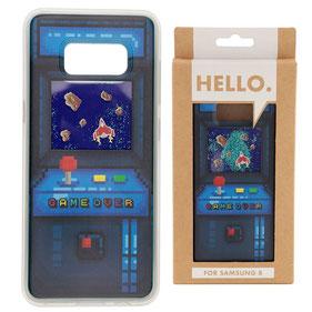 Coque téléphone Samsung 8 game over bleu