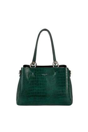 CM5896 Sac à main David Jones vert aspect croco