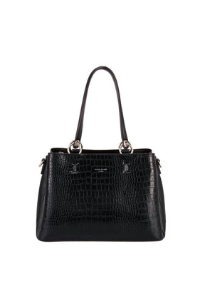 CM5896 sac à main David Jones aspect croco noir