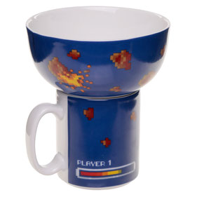 Ensemble tasse et bol game over
