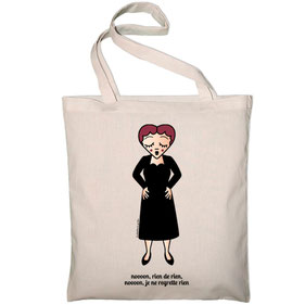 ICONS ICONES EDITH PIAF ILLUSTRATION SAC TOTE BAG / CREATION ORIGINALE © Stephanie Gerlier / T FOR TIGER
