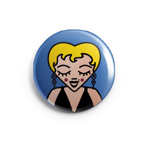 ICONS ICONES MARILYN MONROE ILLUSTRATION BADGE MAGNET MIROIR / CREATION ORIGINALE © Stephanie Gerlier / T FOR TIGER