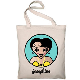 ICONS ICONES JOSEPHINE BAKER ILLUSTRATION SAC TOTE BAG / CREATION ORIGINALE © Stephanie Gerlier / T FOR TIGER