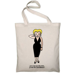 "TOTE BAG ""MERVEILLEUSE""  copyright Stephanie Gerlier 2018 / T FOR TIGER"