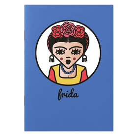ICONS ICONES FRIDA KAHLO ILLUSTRATION CAHIER / CREATION ORIGINALE © Stephanie Gerlier / T FOR TIGER