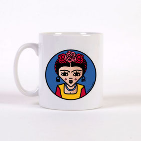 ICONS ICONES FRIDA KAHLO ILLUSTRATION MUG / CREATION ORIGINALE © Stephanie Gerlier / T FOR TIGER