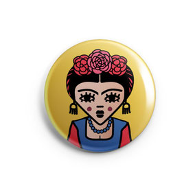 "BADGE, MAGNET OU MIROIR DE POCHE ""FRIDA  copyright Stephanie Gerlier 2018 / T FOR TIGER"