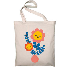 """TOTE BAG """"BLUE EDITH""""  copyright Stephanie Gerlier 2018 / T FOR TIGER"""
