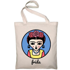 ICONS ICONES FRIDA KAHLO ILLUSTRATION SSAC TOTE BAG / CREATION ORIGINALE © Stephanie Gerlier / T FOR TIGER