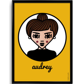 ICONS ICONES AUDREY HEPBURN ILLUSTRATION AFFICHE POSTER ART PRINT / CREATION ORIGINALE © Stephanie Gerlier / T FOR TIGER