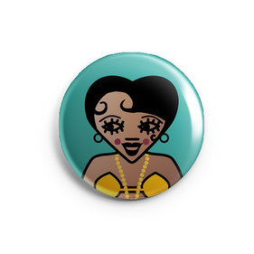 ICONS ICONES JOSEPHINE BAKER ILLUSTRATION BADGE MAGNET MIROIR / CREATION ORIGINALE © Stephanie Gerlier / T FOR TIGER