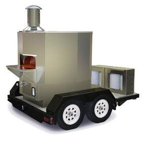 mobiler grill anhänger mobiler backofen