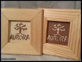 WoodnMetalART Scrollsaw Holzbild Baum Aurora