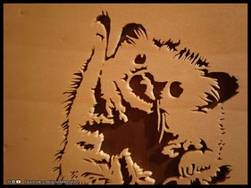 WoodnMetalART Scrollsaw Holzportrait Nala The Hedgehog