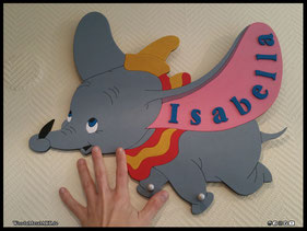 WoodnMetalART Scrollsaw Dekupiersäge Holzbild Dumbo