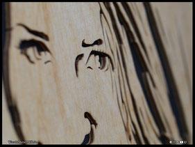 WoodnMetalART Scrollsaw Dekupiersäge Holzportrait Freunde