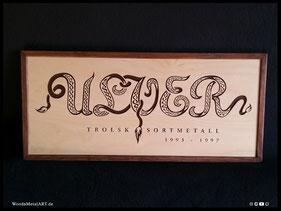 WoodnMetalART Scrollsaw Dekupiersäge Holzlogo Ulver Black Metal