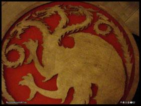 WoodnMetalART Scrollsaw Dekupiersäge Holzlogo Haus Targaryen Game of Thrones