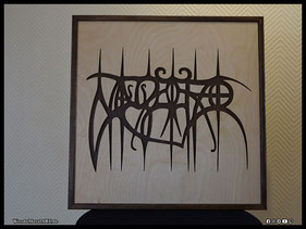 WoodnMetalART Scrollsaw Dekupiersäge Holzlogo Nagelfar Black Metal