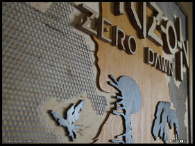 WoodnMetalART Scrollsaw Dekupiersäge Holzbild Horizon Zero Dawn