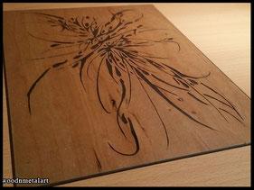 WoodnMetalART Scrollsaw Dekupiersäge Holzbild Spikey spiny thingy