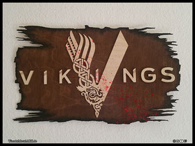 WoodnMetalART Scrollsaw Dekupiersäge Holzlogo Vikings