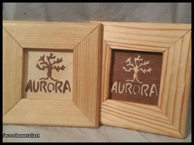 WoodnMetalART Scrollsaw Dekupiersäge Holzbild Baum Aurora