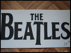 WoodnMetalART Scrollsaw Holzlogo The Beatles