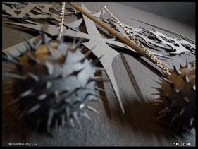 WoodnMetalART Scrollsaw Dekupiersäge Holzlogo Nargaroth Black Metal