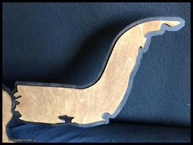 WoodnMetalART Scrollsaw Dekupiersäge Wacken Schädel LED Detail