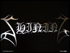 WoodnMetalART Scrollsaw Dekupiersäge Aluminiumlogo Shining Black Metal