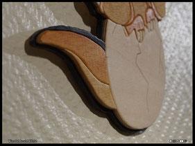 WoodnMetalART Scrollsaw Dekupiersäge Holzbild Ducky In einem Land vor unserer Zeit
