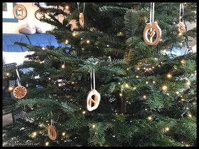WoodnMetalART Scrollsaw Holzschmuck Baumschmuck Weihnachtsbaum