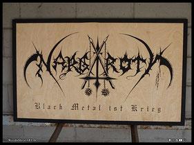 WoodnMetalART Scrollsaw Holzlogo Nargaroth Black Metal