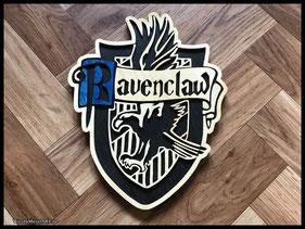 WoodnMetalART Scrollsaw Dekupiersäge Holzwappen Harry Potter Hauswappen Ravenclaw