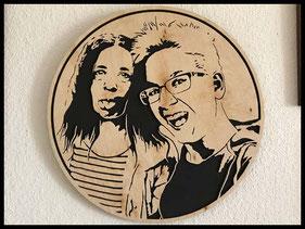 WoodnMetalART Scrollsaw Holzportrait Kinder