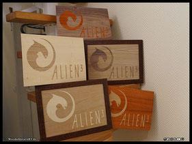 WoodnMetalART Scrollsaw Dekupiersäge Holzbild Alien3