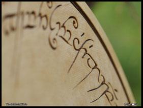 WoodnMetalART Scrollsaw Dekupiersäge Holzlogo Der Herr der Ringe