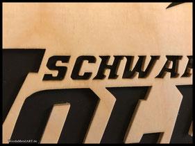 WoodnMetalART Scrollsaw Dekupiersäge Holzbild Schwarzenbek Wolves