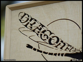 WoodnMetalART Scrollsaw Dekupiersäge Holzbild Dragonfly King