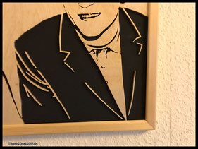 WoodnMetalART Scrollsaw Dekupiersäge Holzportrait Pärchen