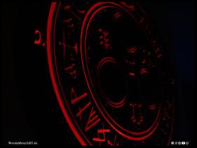 WoodnMetalART Scrollsaw Dekupiersäge Holzlogo Halo of the Sun Silent Hill LED