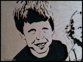 WoodnMetalART Scrollsaw Dekupiersäge Holzportrait Kinder