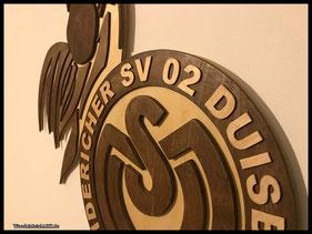 WoodnMetalART Scrollsaw Dekupiersäge Holzlogo MSV Duisburg