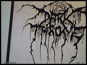 WoodnMetalART Scrollsaw Holzlogo Darkthrone Black Metal