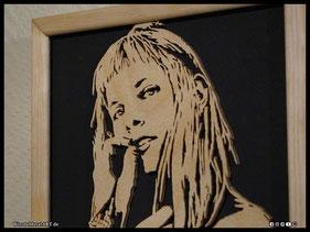 WoodnMetalART Scrollsaw Holzportrait Aurora