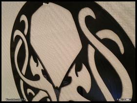 WoodnMetalART Scrollsaw Dekupiersäge Vinylbild Cthulhu