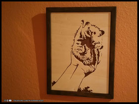 WoodnMetalART Scrollsaw Dekupiersäge Holzportrait Nala The Hedgehog
